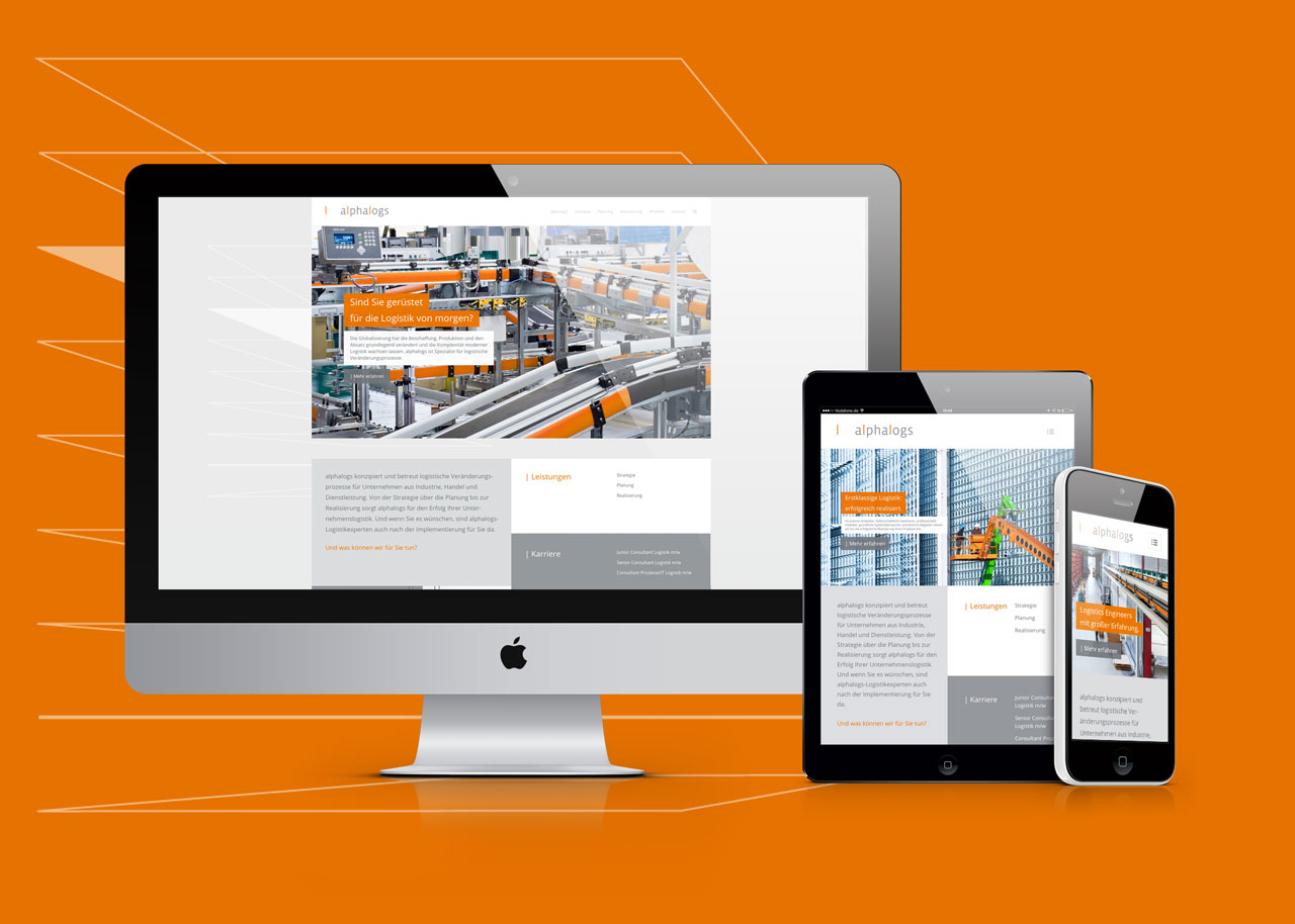 alphalogs responsive website