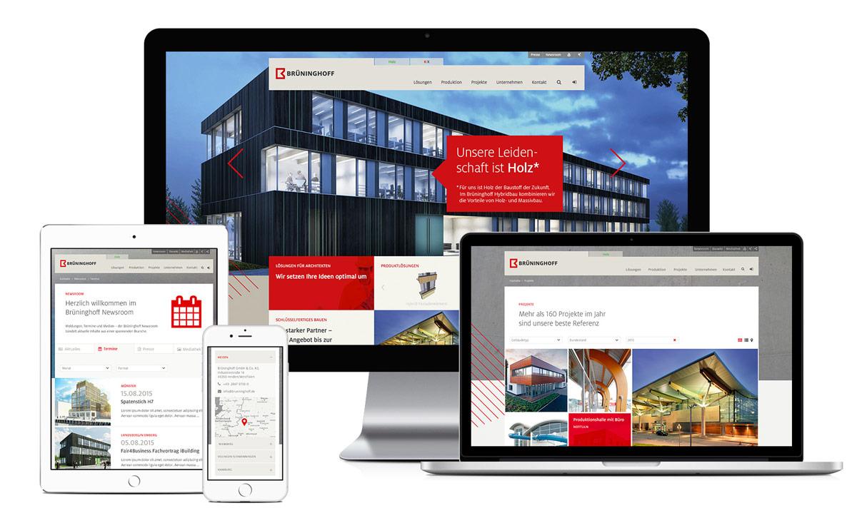 Responsive Webdesign www.brueninghoff.de
