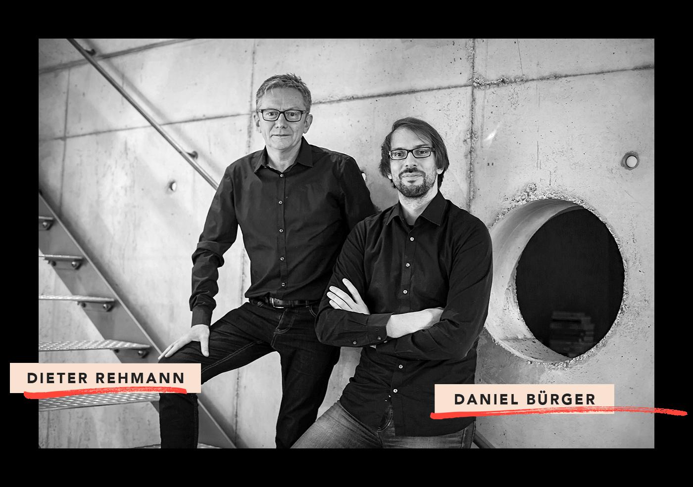 Geschäftsführer der 31M Design- und Werbeagentur Essen: Dieter Rehmann & Daniel Bürger